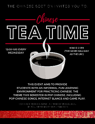 CANCELLED - Chinese Tea Time